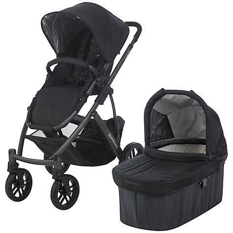 Buy Uppababy Vista Pushchair, Jake Black Online at johnlewis.com