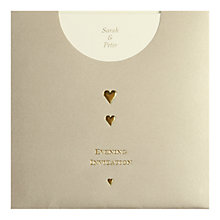 Buy CCA Golden Pockets Personalised Wedding Evening Invitations, Pack of 60, Gold Online at johnlewis.com