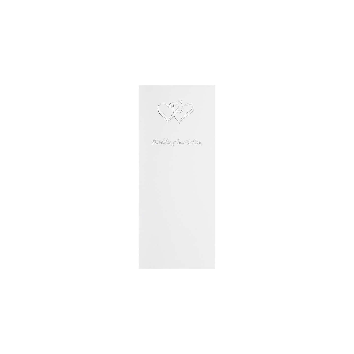 CCA Linked Heart Personalised Wedding Invitations, Pack of 60 at ...