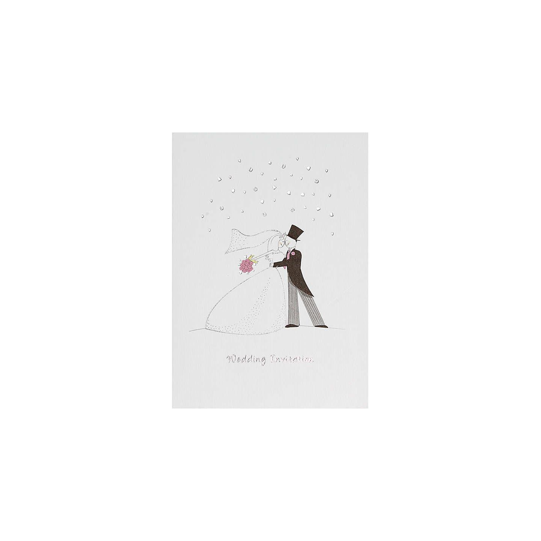CCA True Romance Personalised Wedding Invitations, Pack of 60 at ...