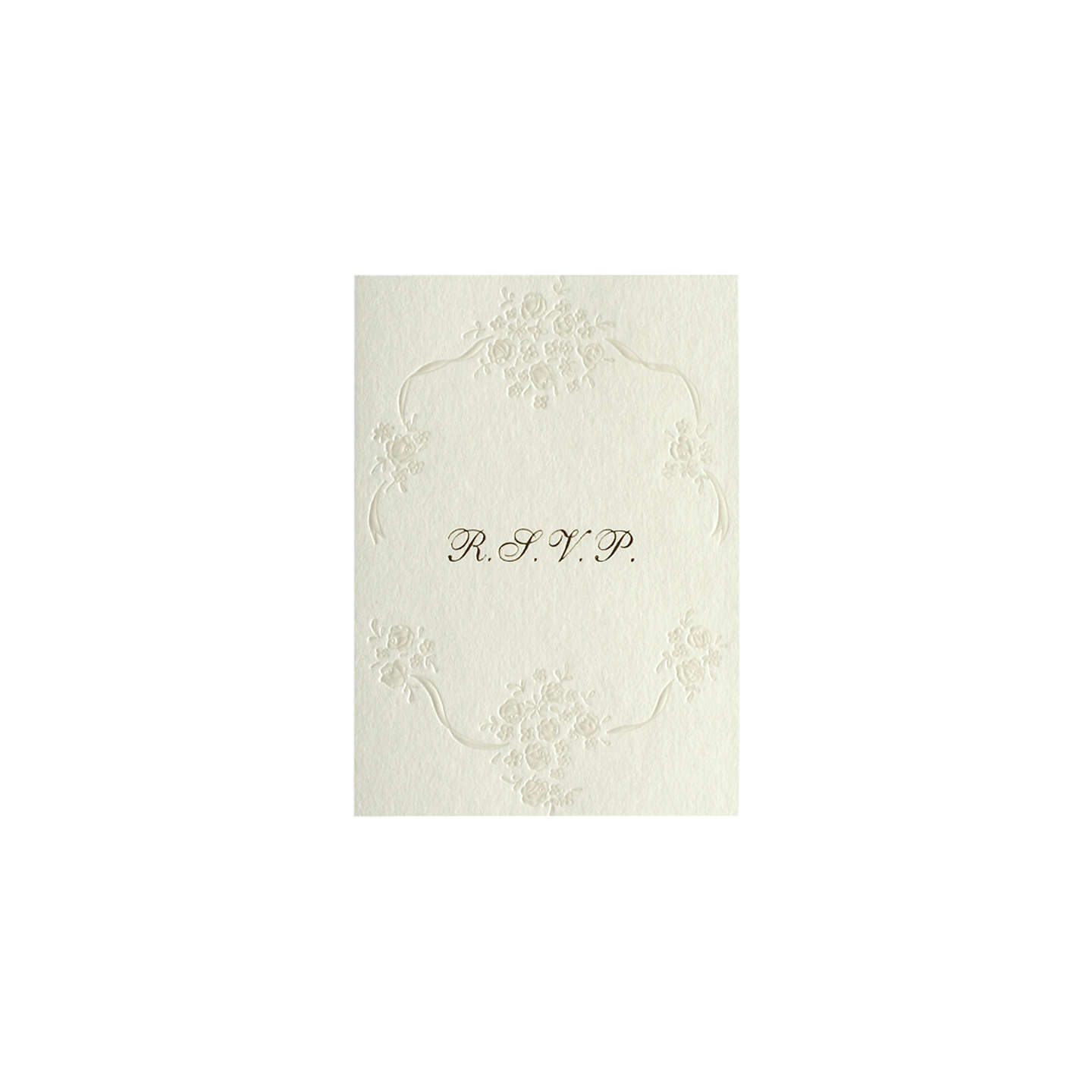 CCA Pearls Personalised Wedding RSVP Reply Cards, Pack of 60, Gold ...