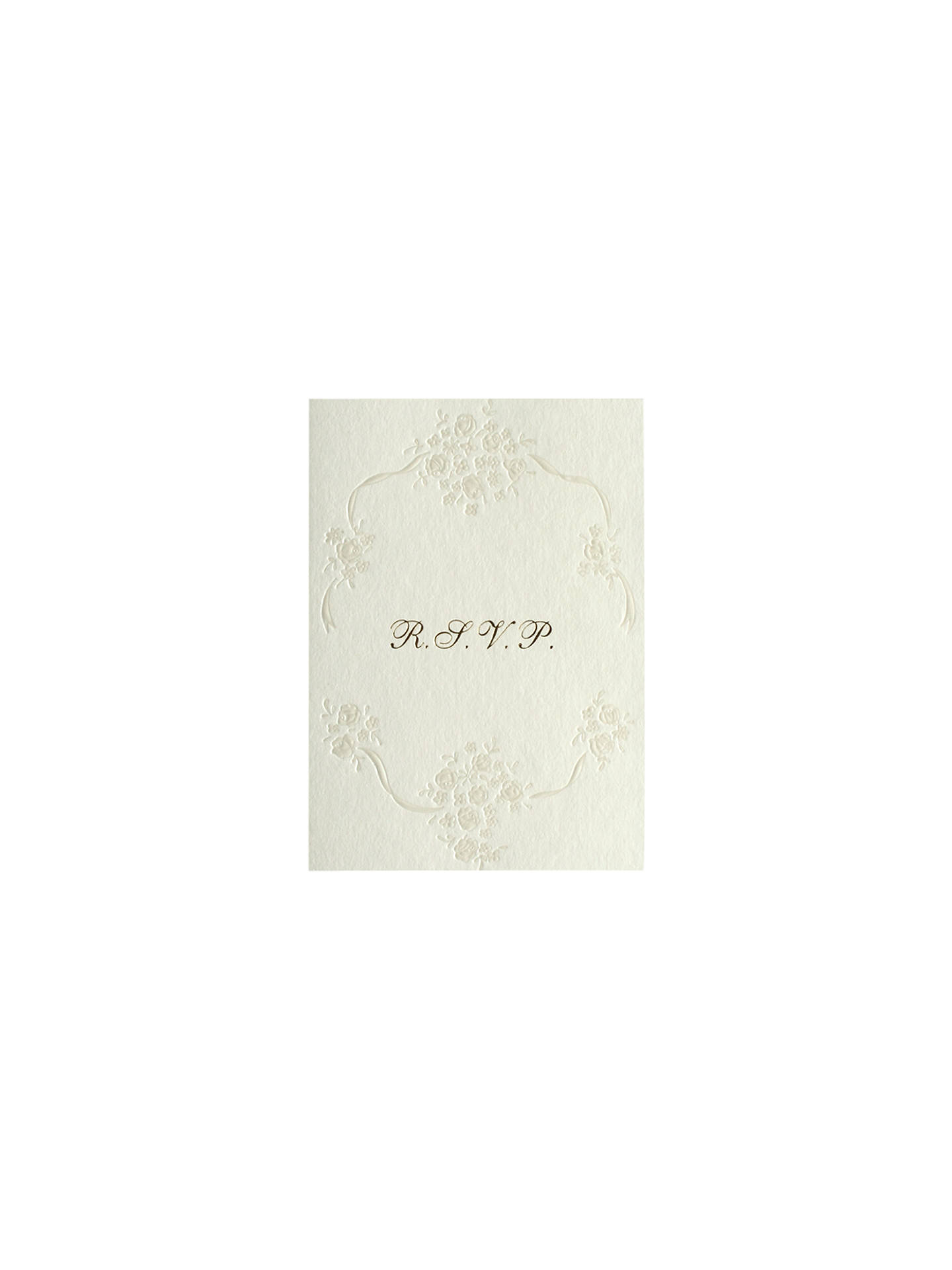 BuyCCA Pearls Personalised Wedding RSVP Reply Cards, Pack of 60, Gold Online at johnlewis.com