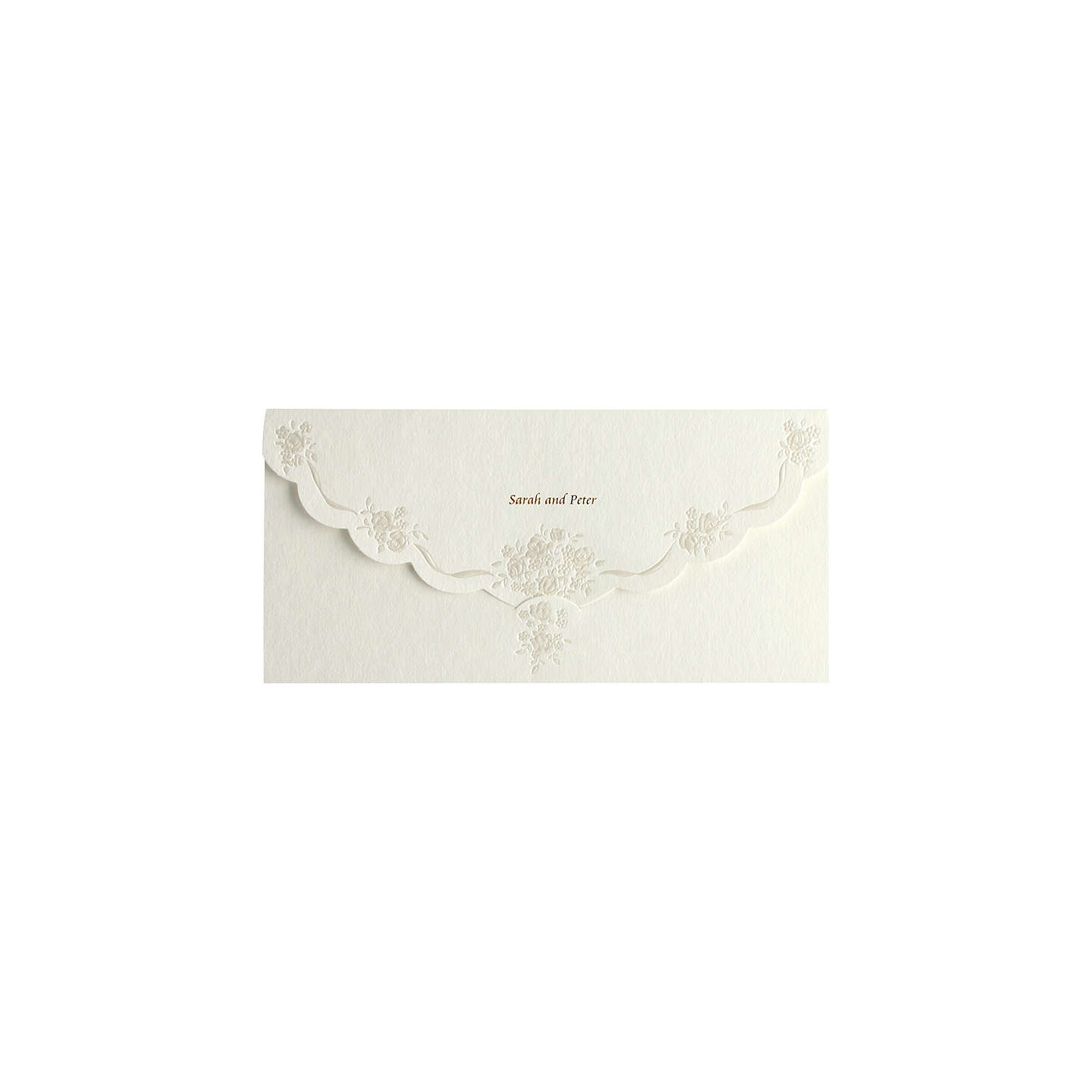 CCA Pearls Personalised Wedding Invitations, Pack of 60, Gold at ...