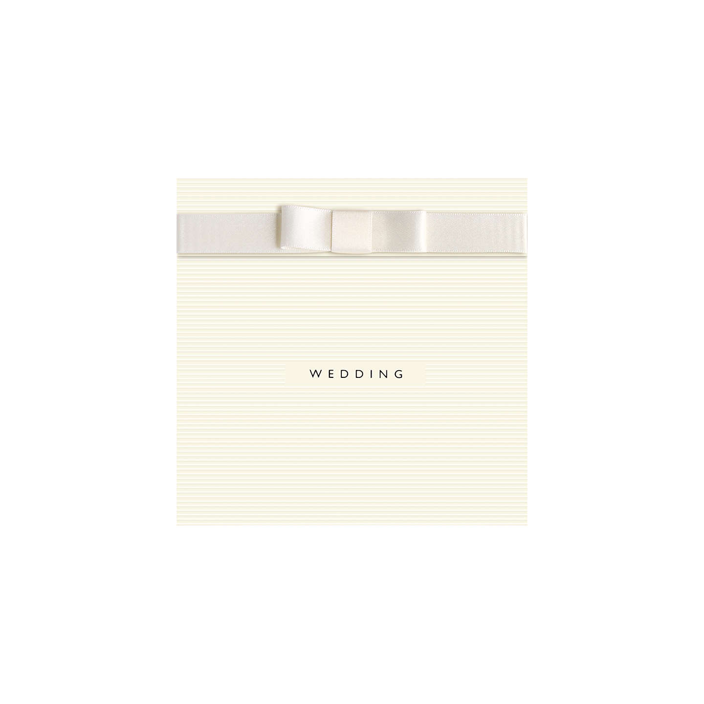 CCA White Wedding Peronalised Evening Invitations, Pack of 60 at ...