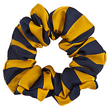 Buy Colston Bassett Preparatory School Girls' Scrunchie, Navy/Amber Online at johnlewis.com