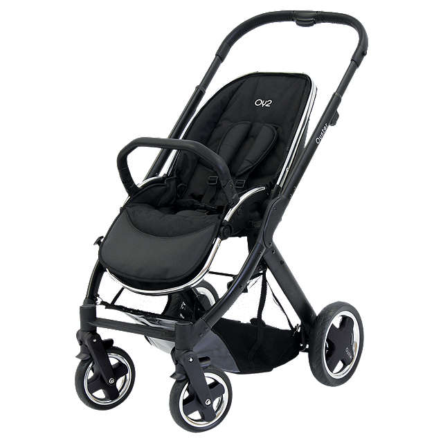 BuyBabyStyle Oyster 2 Pushchair Chassis and Seat, Black Online at johnlewis.com