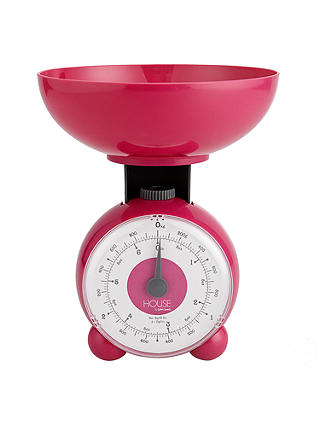 House By John Lewis Orb Mechanical Scale 3kg Pink At John Lewis Partners