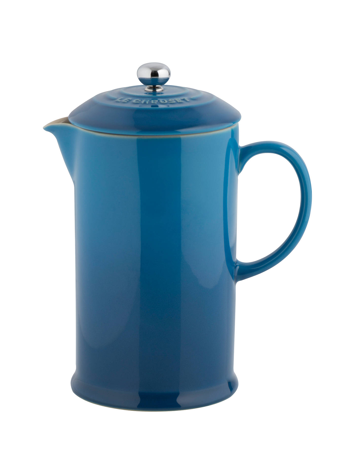 Buy Le Creuset Stoneware Coffee Press, 1L, Marseille Blue Online at johnlewis.com