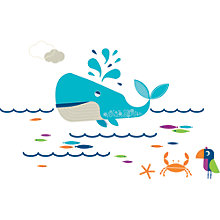 Buy little home at John Lewis Waves & Whales Wall Stickers Online at johnlewis.com