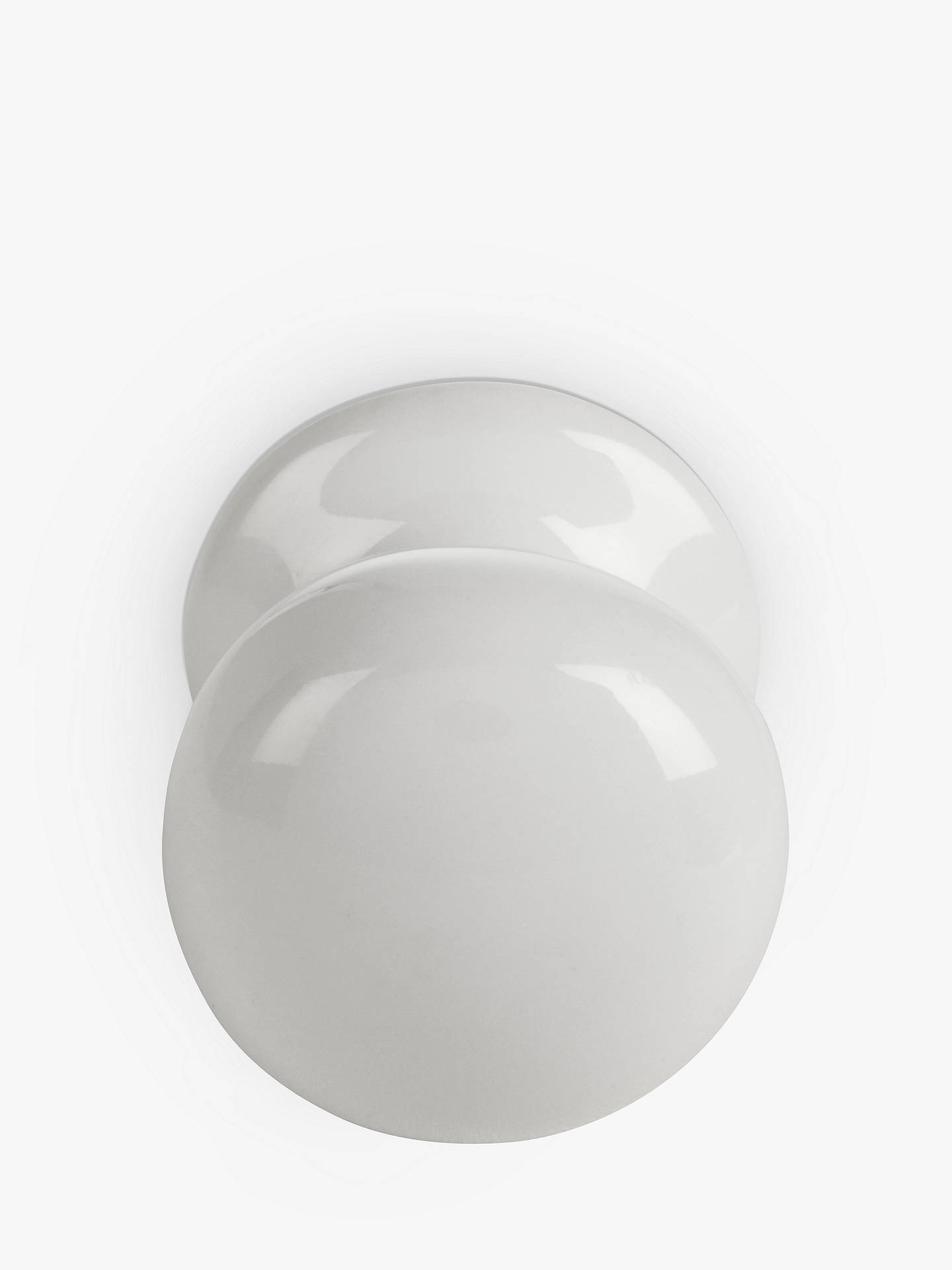 Buy John Lewis & Partners Cupboard Knob, White Porcelain, Dia.32mm Online at johnlewis.com