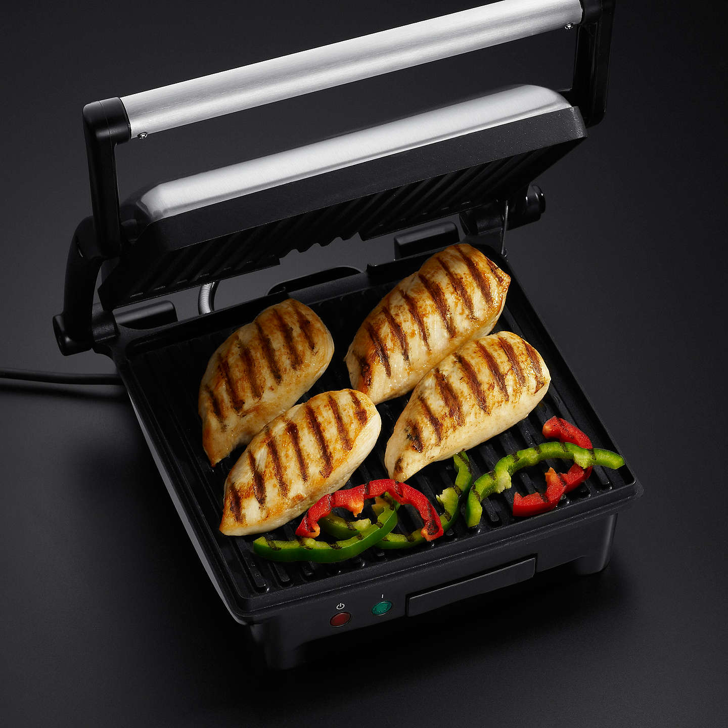 russell hobbs cook at home 3 in 1 panini maker grill and griddle at john lewis. Black Bedroom Furniture Sets. Home Design Ideas