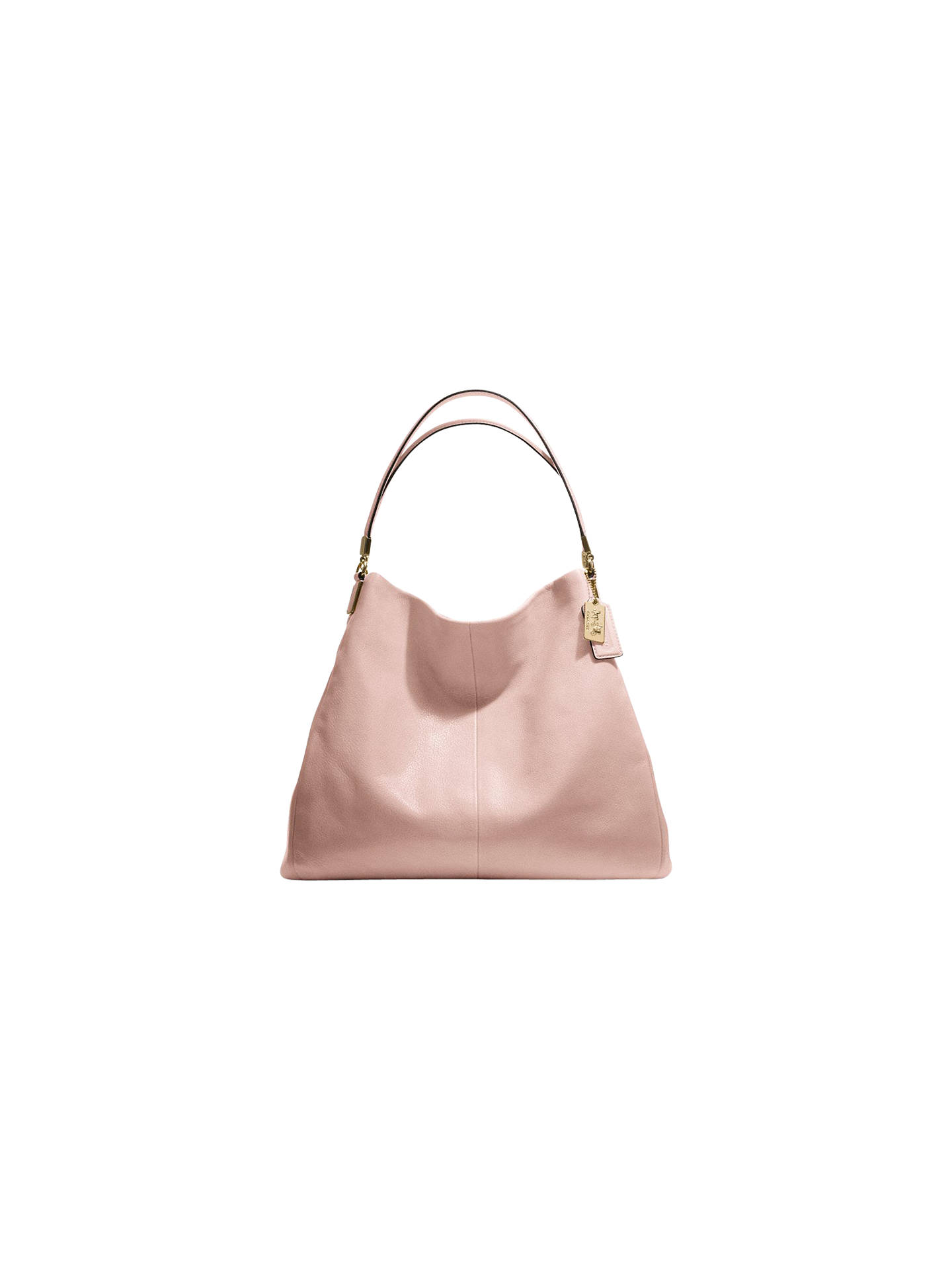 Coach Madison Phoebe Leather Hobo Handbag Peach Online At Johnlewis