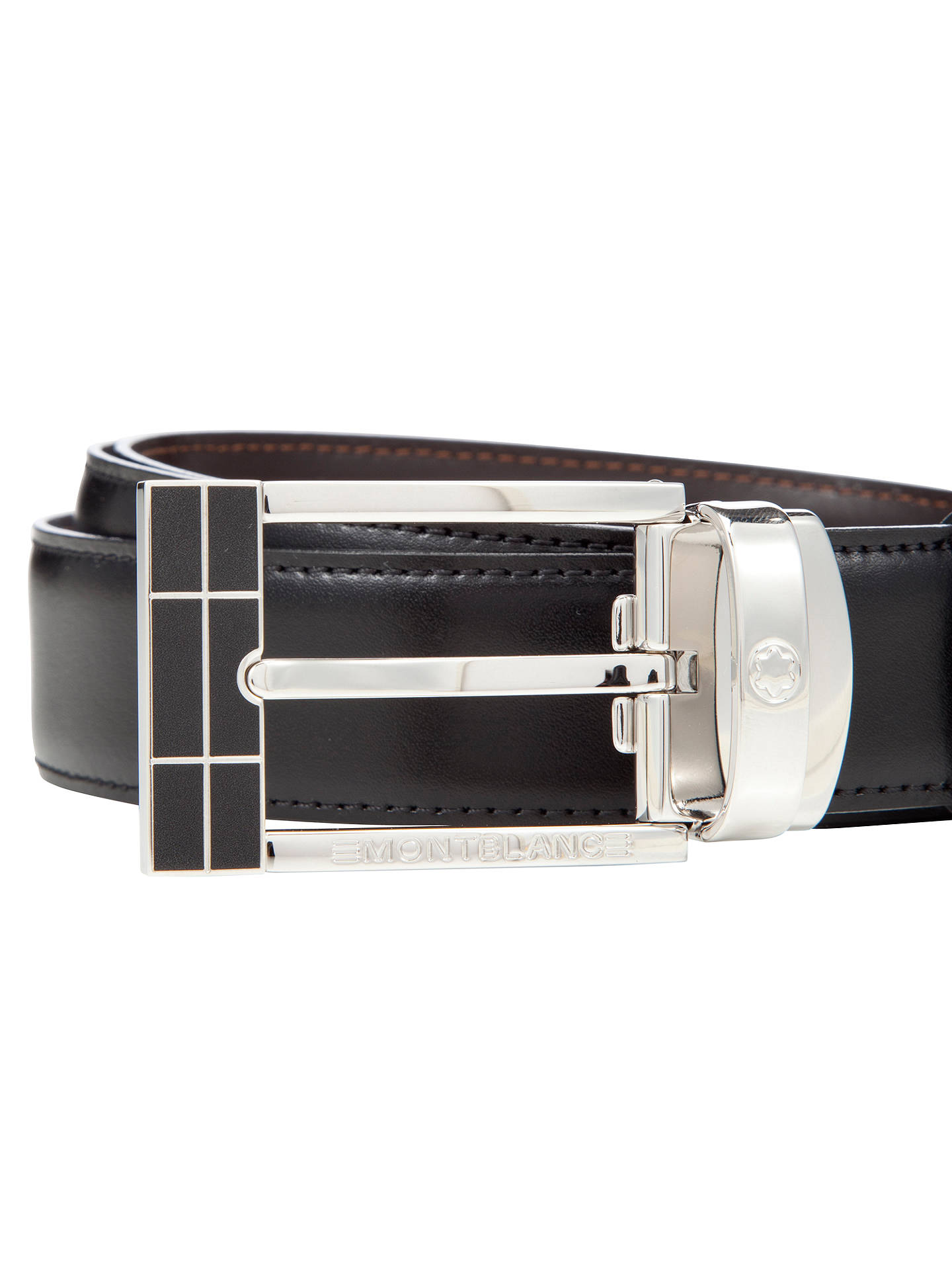 f9cffb7cb38 Buy Montblanc Reversible Leather Belt With Rectangular Buckle