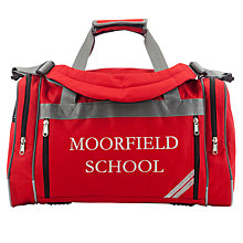 Buy Moorfield School Holdall, Red Online at johnlewis.com