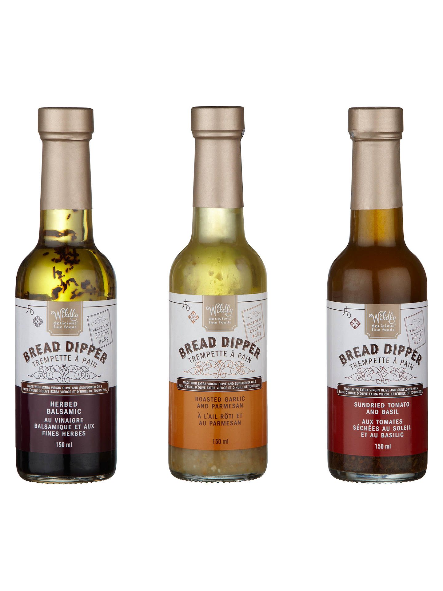 Wildly Delicious Bread Dipper Set 3 X 150ml At John Lewis