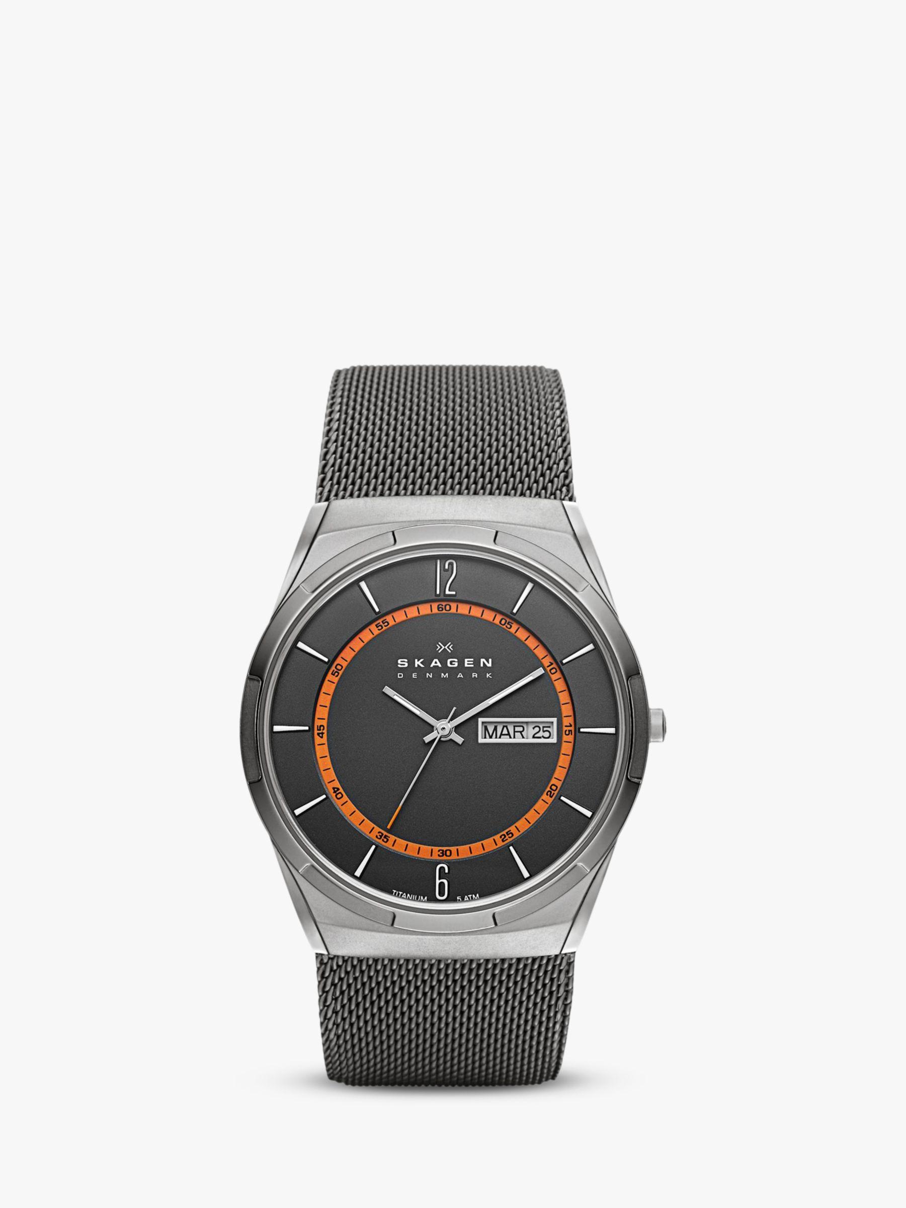 skagen Skagen Men's Aktiv Titanium Mesh Bracelet Strap Watch