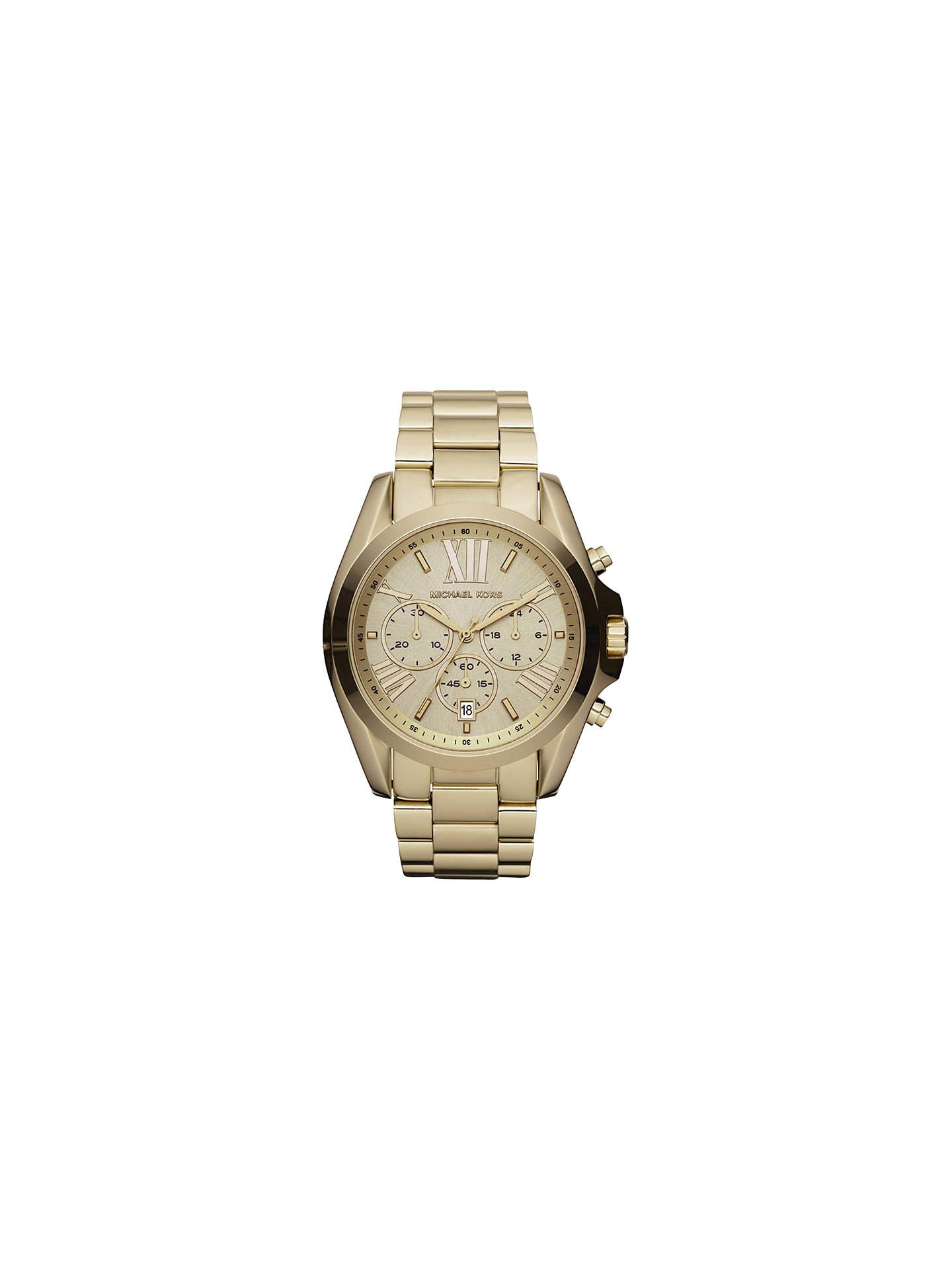 Michael Kors Mk5605 Women S Bradshaw Chronograph Bracelet