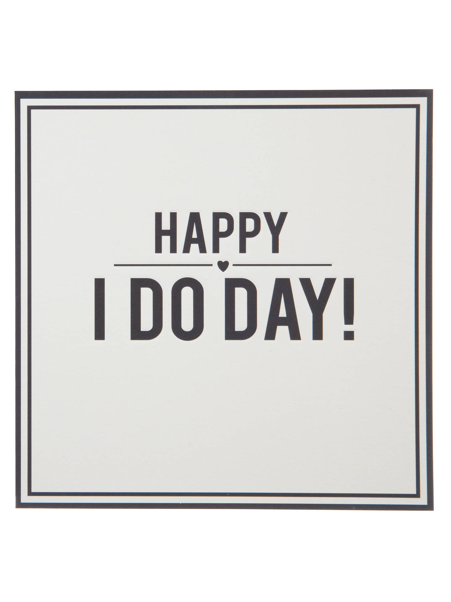 Buy Alice Scott Happy I Do Day Wedding Card Online at johnlewis.com