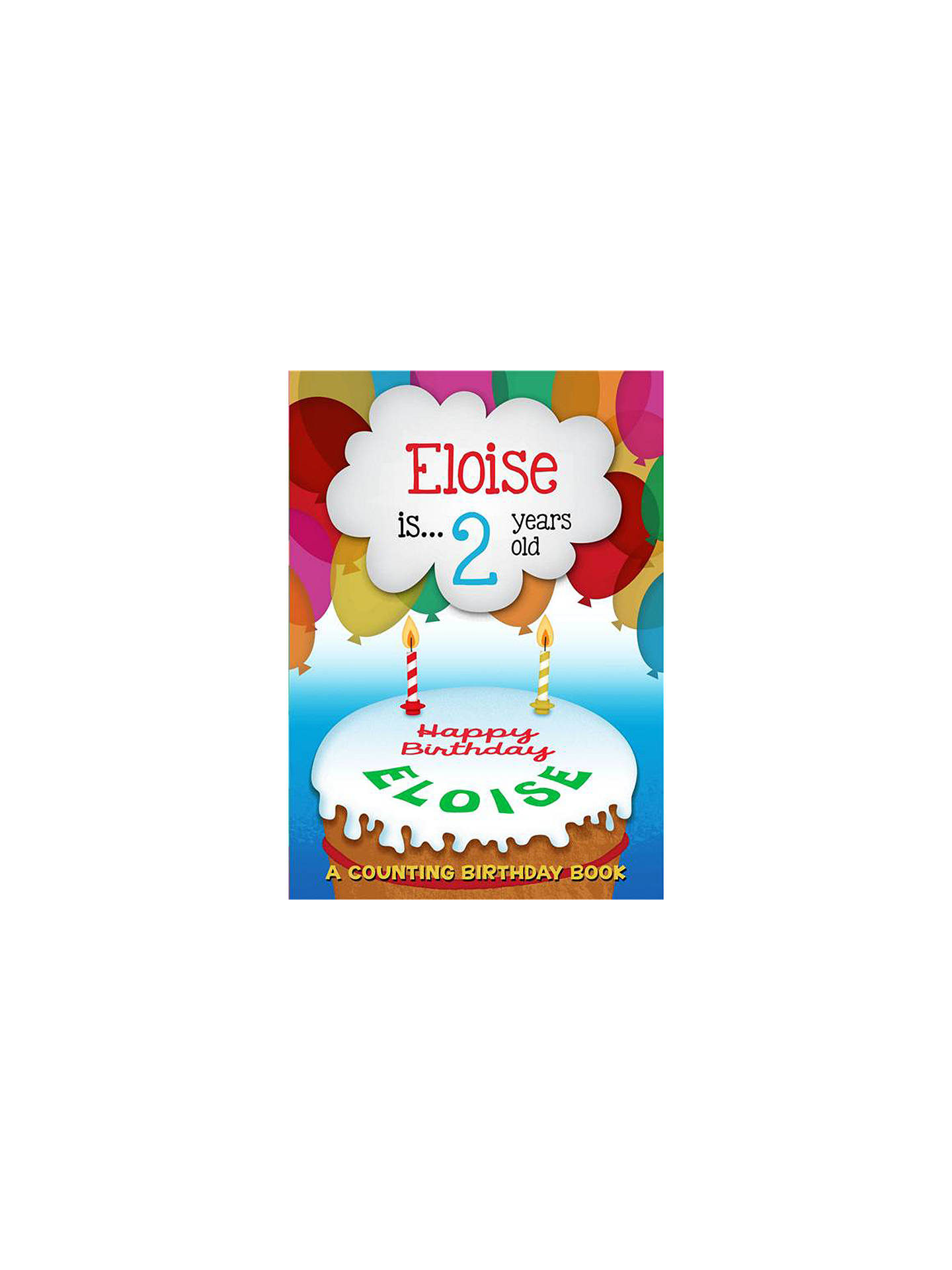 the letteroom personalised counting birthday book at john lewis