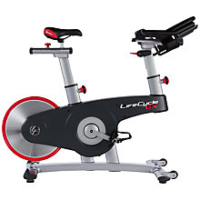 Buy Life Fitness Life Cycle GX Indoor Studio Bike, Silver/Grey/Red Online at johnlewis.com
