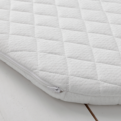 John Lewis Premium Foam Moses Basket Mattress, 66 x 28cm