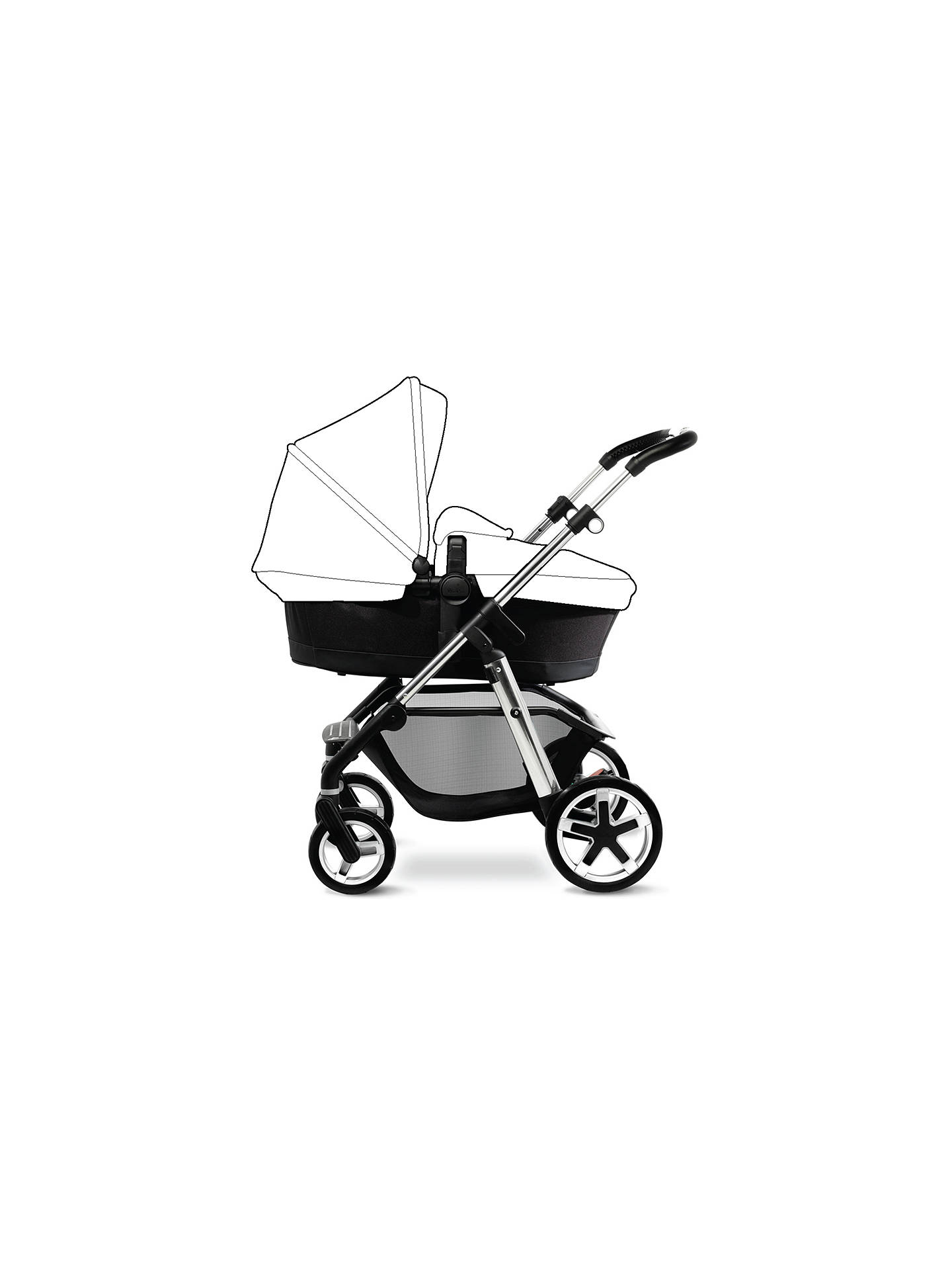 BuySilver Cross Pioneer Pushchair Seat, Chassis and Carrycot, Chrome Online at johnlewis.com