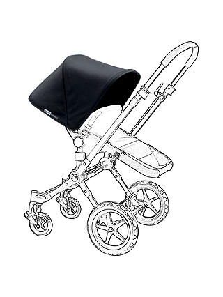 Buy Bugaboo Cameleon/Cameleon3 Tailored Fabric, Black Online at johnlewis.com