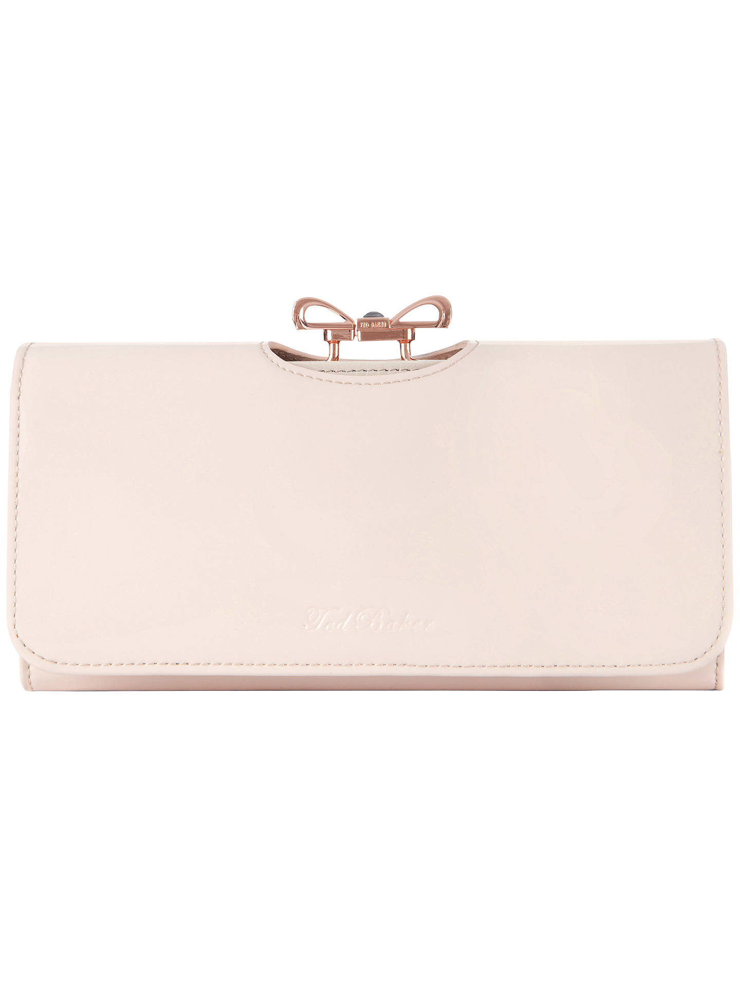 d3fde5ad3 Ted Baker Lindar Bow Bobble Leather Purse at John Lewis   Partners
