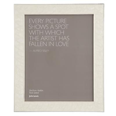 John Lewis Amy Enamel Photo Frame, Cream
