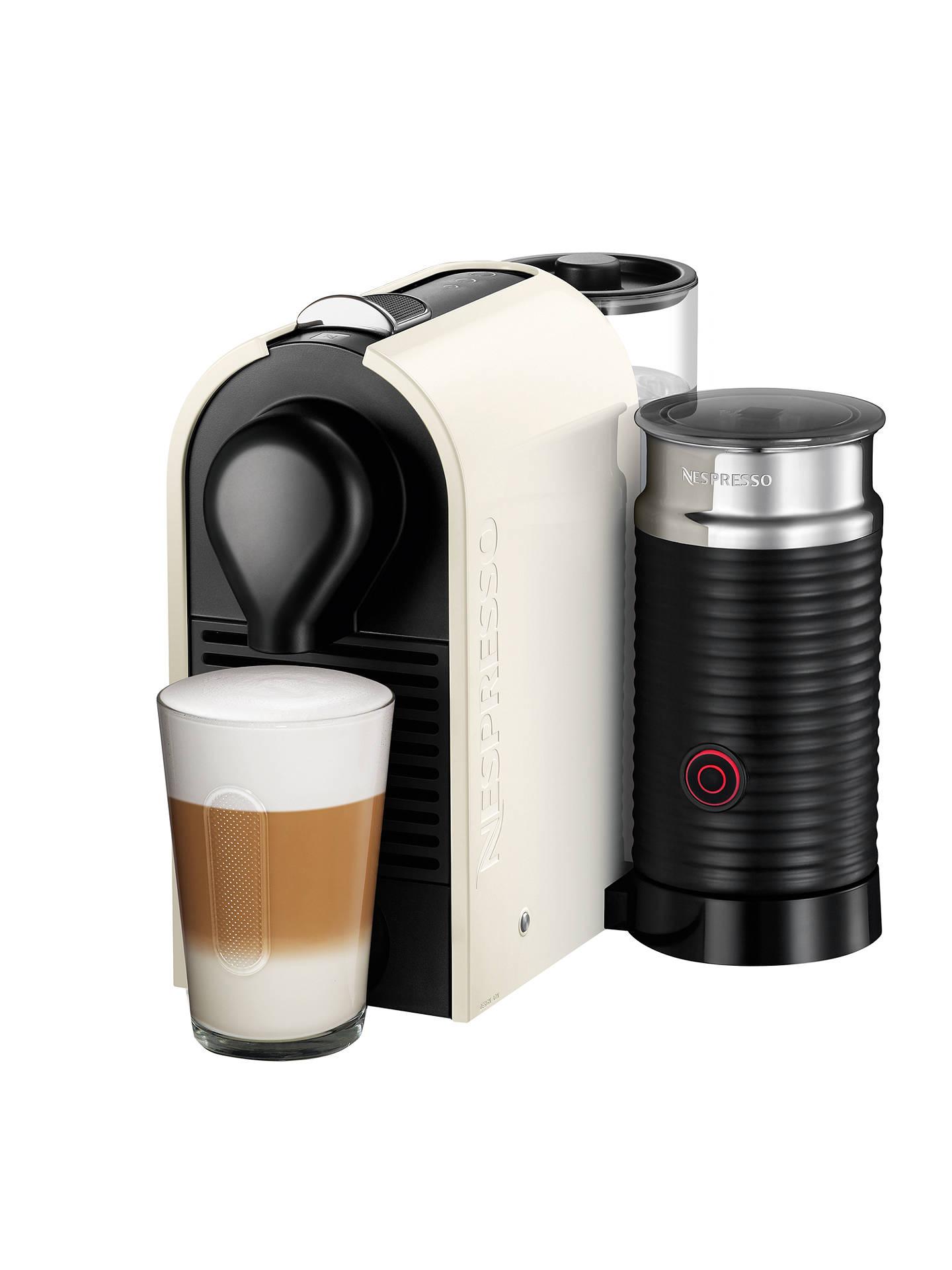 Nespresso U Coffee Machine with Aeroccino by KRUPS, Cream ...