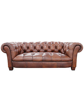 Buy John Lewis Todd Large Leather Chesterfield Sofa, Tan Online at johnlewis.com