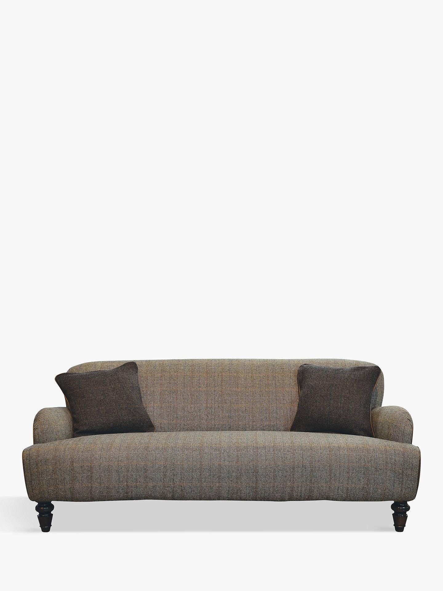 Tetrad Lewis Large 3 Seater Sofa Harris Tweed Bracken Herringbone
