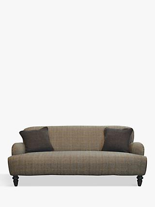 Lewis Range, Tetrad Lewis Large 3 Seater Sofa, Harris Tweed Bracken Herringbone