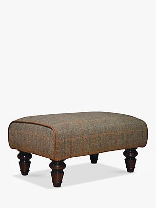 Tetrad Lewis Footstool, Harris Tweed Bracken Herringbone