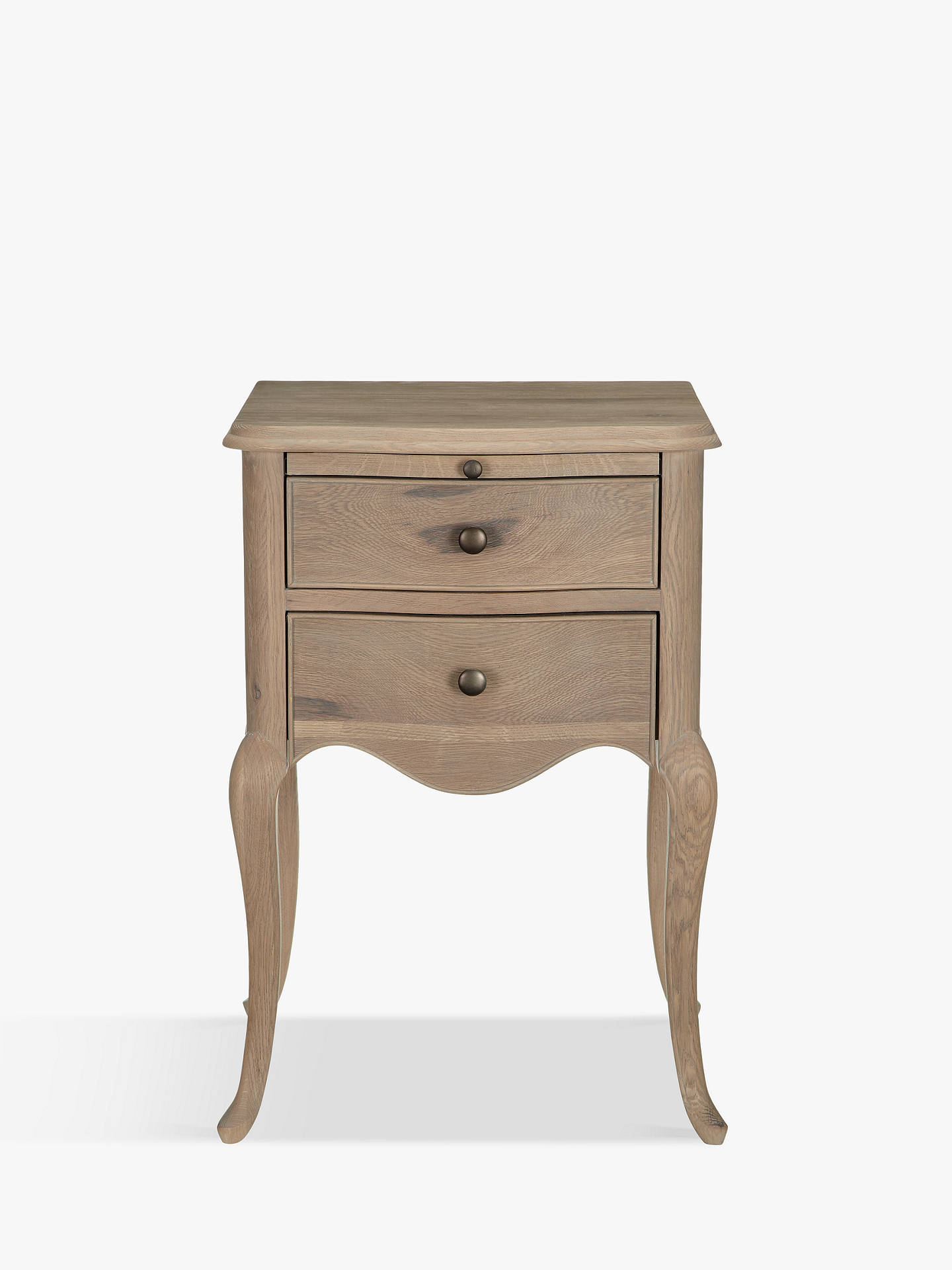 John Lewis Partners Etienne 2 Drawer Bedside Table Oak Online At Johnlewis