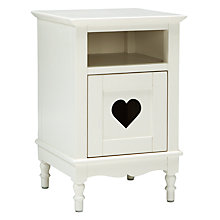 Buy little home at John Lewis Victoria Bedside Table, White Online at johnlewis.com
