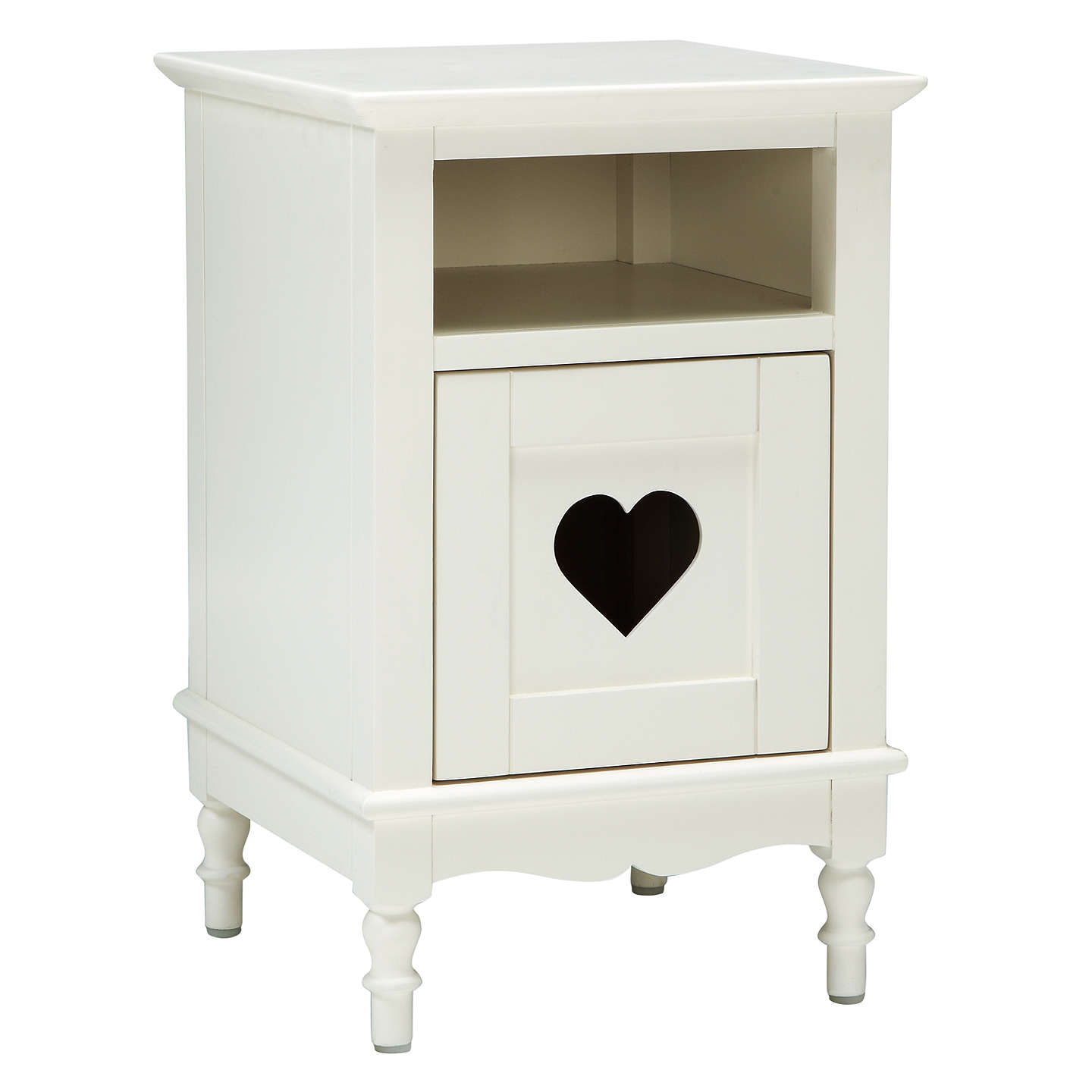 little home at john lewis victoria bedside table white at