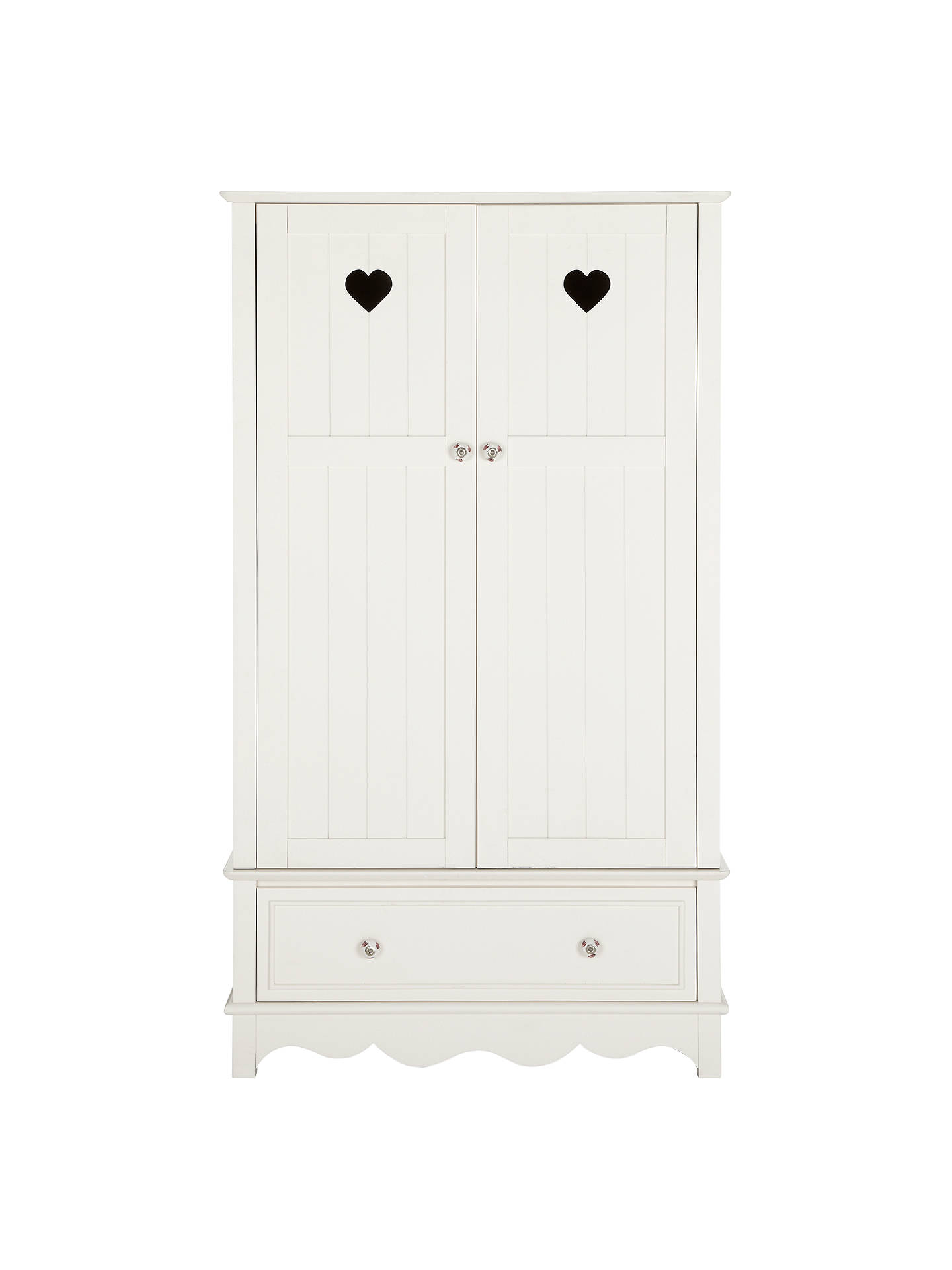 Buy little home at John Lewis Victoria 2 door Wardrobe, White Online at johnlewis.com