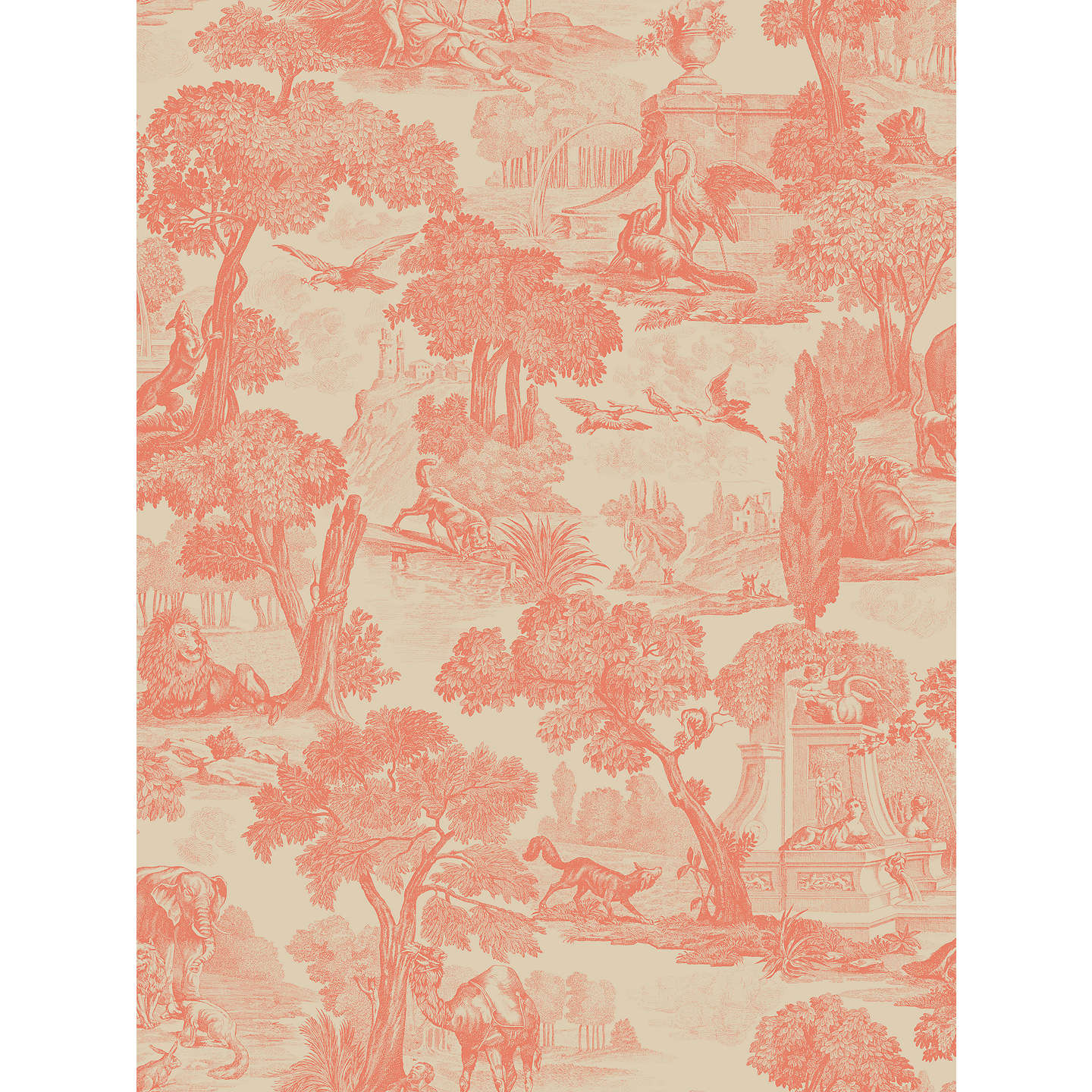 BuyCole Son Versailles Paste The Wall Wallpaper Coral 99 15060 Online At