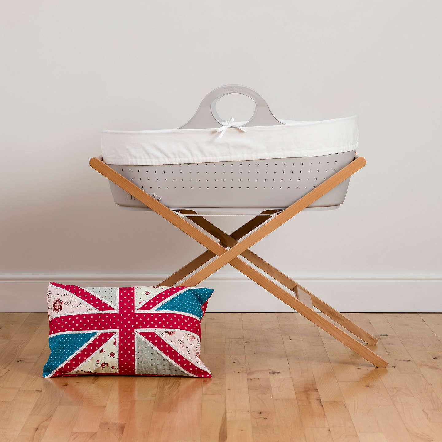 BuyMoba Moses Basket and Mattress, Dove Grey Online at johnlewis.com