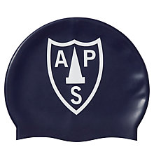 Buy Alpha Prep School Swimming Cap, Navy Online at johnlewis.com