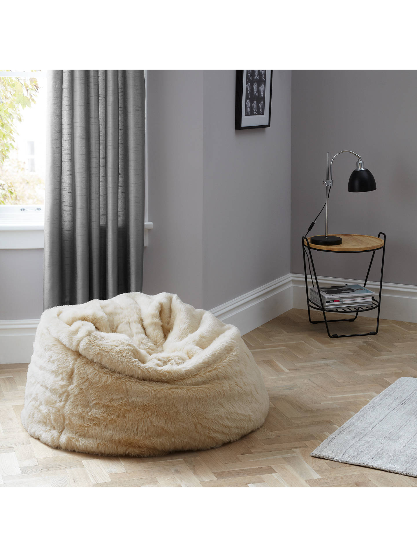 Remarkable John Lewis Extra Large Faux Fur Bean Bag At John Lewis Squirreltailoven Fun Painted Chair Ideas Images Squirreltailovenorg