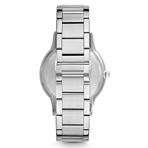 Buy Emporio Armani AR2472 Men's Degrade Dial Date Bracelet Strap Watch, Silver/Blue Online at johnlewis.com
