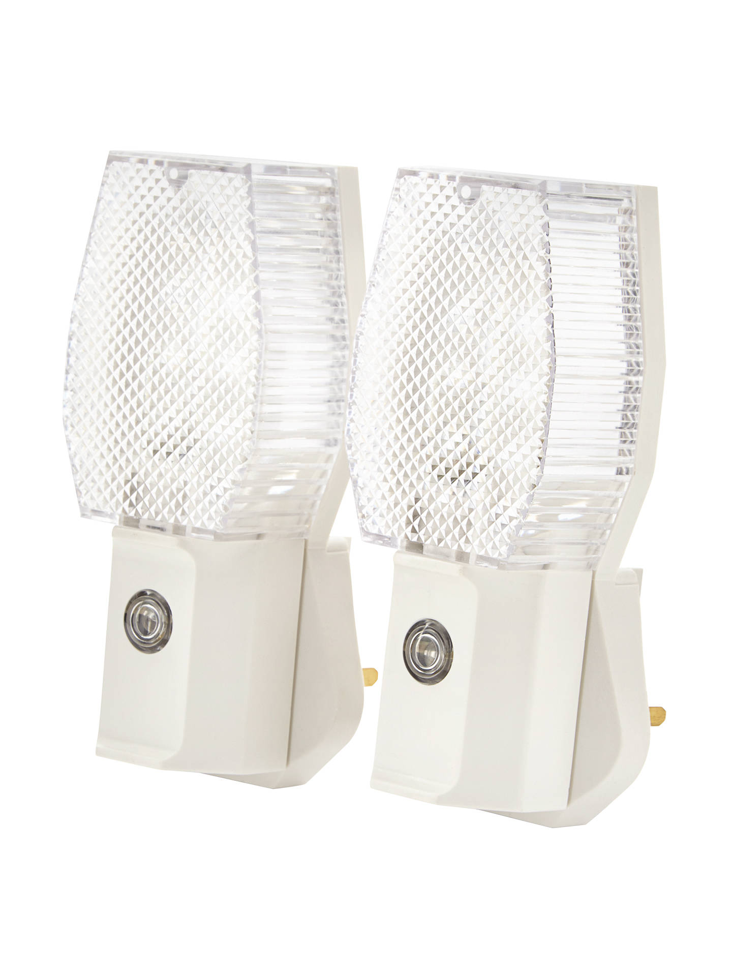 John Lewis Automatic Dusk to Dawn Plug-in Night Light, Pack of 2 at