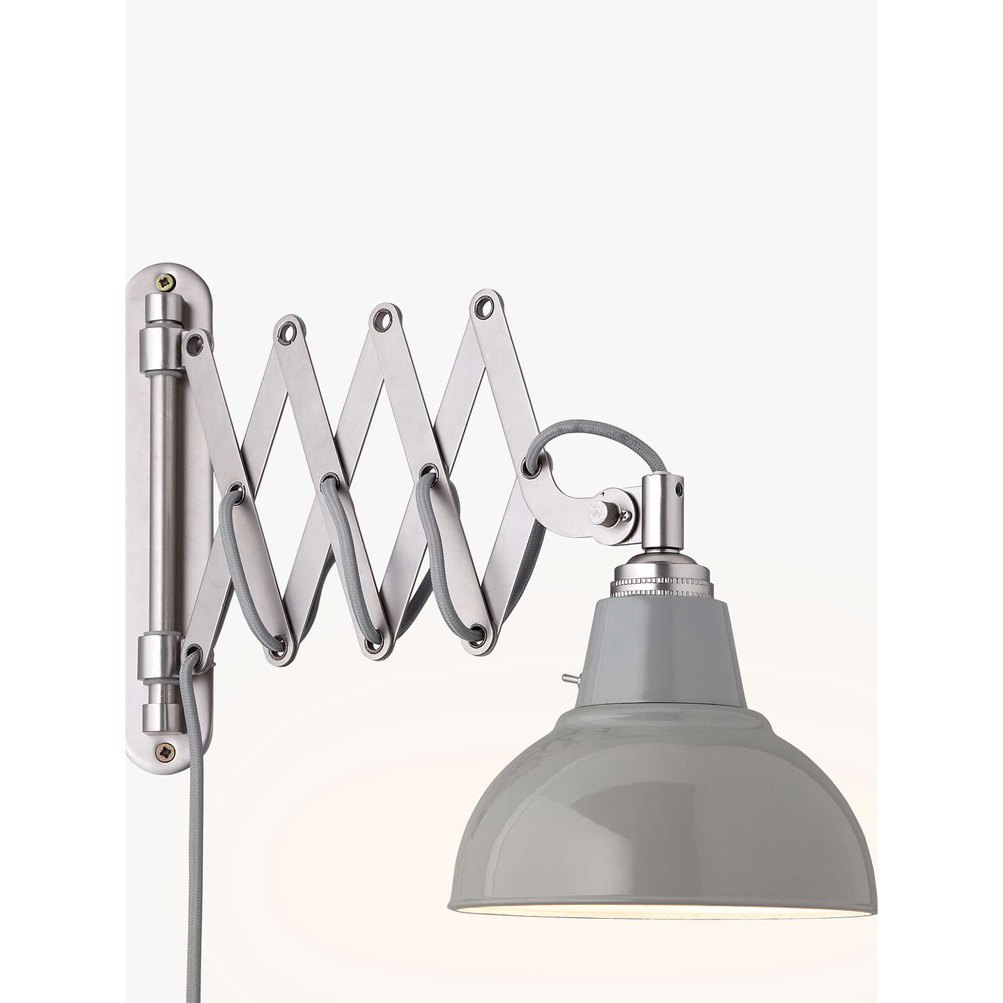 Croft collection campbell extending wall light at john lewis buycroft collection campbell extending wall light grey online at johnlewis aloadofball Choice Image