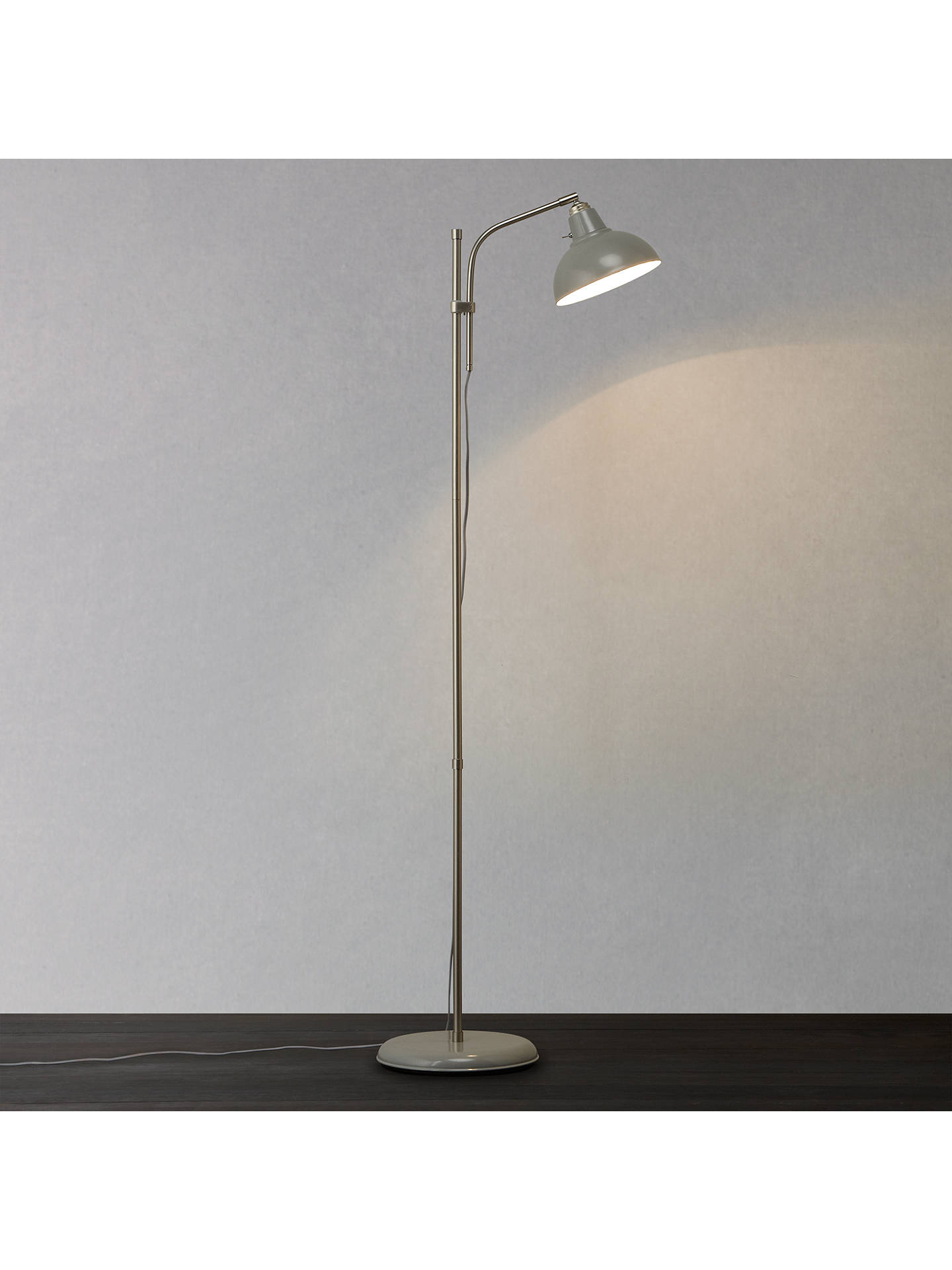 John Lewis Croft Collection Campbell Floor Lamp Grey At