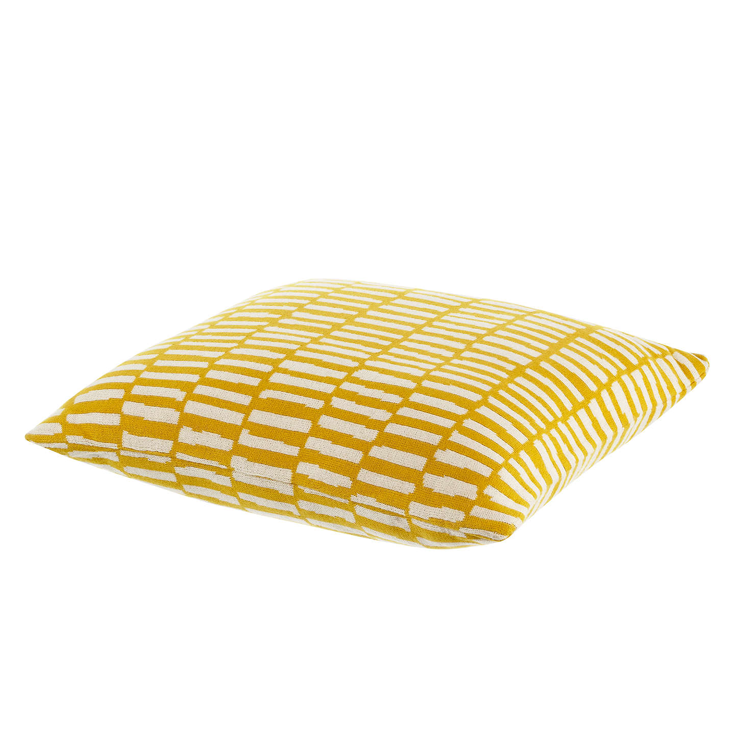 BuyMissPrint Home Dashes Cushion, Yellow Online at johnlewis.com