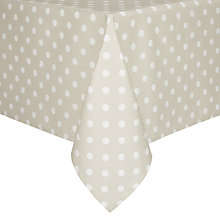 Buy John Lewis Polka Dot Wipe Clean Tablecloth Online at johnlewis.com