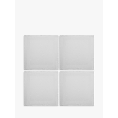 John Lewis Fine Napkin, Set of 4, White