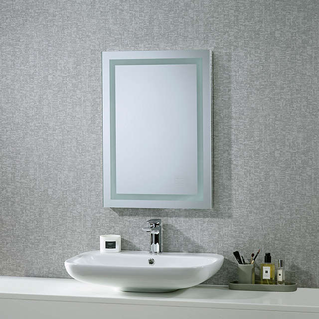 roper rhodes encore illuminated led bathroom mirror with. Black Bedroom Furniture Sets. Home Design Ideas